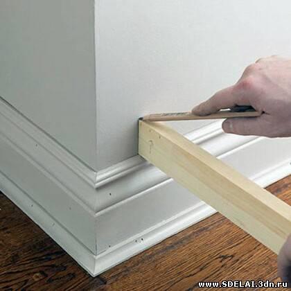 Как сделать плинтус деревянный